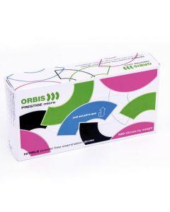 Engangshandsker Orbis pristige micri nitril powder free 100 stk blå str S