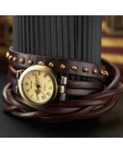 Miguan ur med brun læderrem