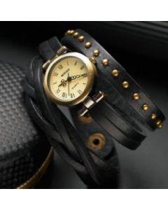 Miguan ur med sort læderrem