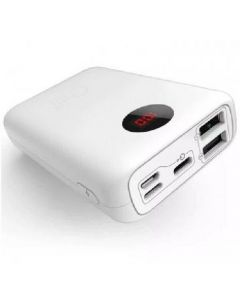 Mini power bank 10000mah hvid