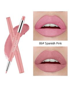 Miss rose high pigment lip liner 2 in 1 lipstick 06 spanish pink 2,1g