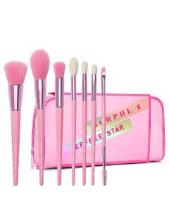 Morphe x jeffree star the jeffree star brush collection 7 custom eye & face brushes + bag