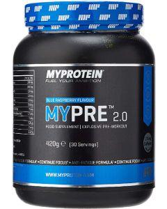 Myprotein mypre 2.0 blue raspberry flavour 420g (Dato)