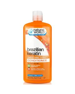 Natural world brazilian keratin smoothing therapy conditioner for dry frizzy hair 500ml