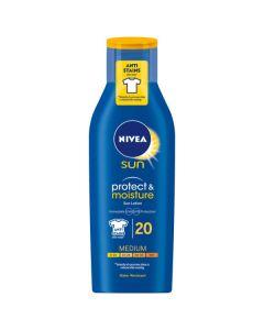Nivea sun protect & moisture sun lotion 20 medium 200ml