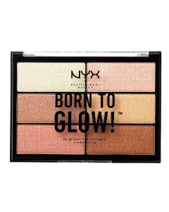 NYX born to glow highlighting palette BTGHP01