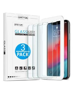 Omoton glass screen protector premium tempered for iphone XS/X 3 pack