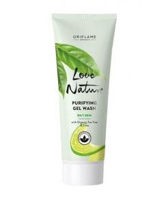 Oriflame sweden love nature purifying gel wash oily skin with organic tea tree & lime 125ml