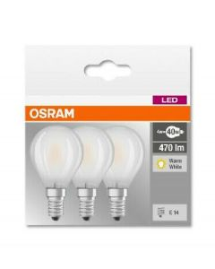 Osram LED base classic p 40 pære E14 470lm 4w warm white 3pk