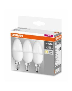 Osram LED base classic b 40 pære E14 470lm 5,7w warm white 3pk