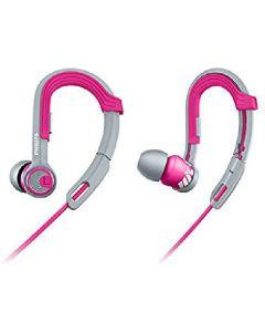 Philips actionfit overdrive earphones SHQ3300PK pink/grå