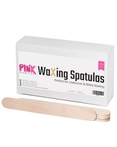 Pink cosmetics waxing spatulas perfect for underarm & bikini waxing medium 100pcs
