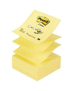 Post-it z-notes 76x76mm 100 ark gul 12 pack R-330