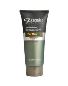 Premier by dead sea shaving cream for men dead sea minerals 125ml