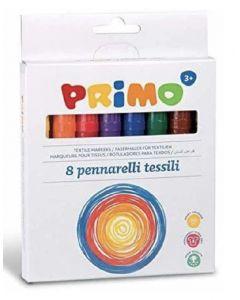 Primo textile fibre-tip pens 8 stk.