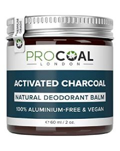 Procoal london activated charcoal natural deodorant balm 60ml