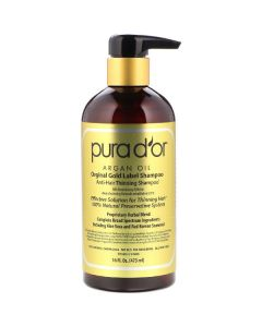 Pura d'or original gold label anti-hair thinning shampoo 473ml
