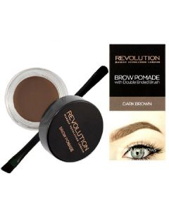 Revolution brow pomade with double ended brush dark brown 2,5g