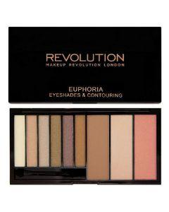 Revolution euphoria eyeshades & contouring bare euphoria palette