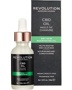 Revolution skincare london CBD oil dry skin nourishing oil 30ml