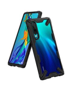 Ringke fusion X hybrid cover black for huawei P30