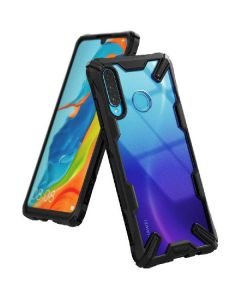 Ringke fusion X hybrid cover black for huawei P30 lite