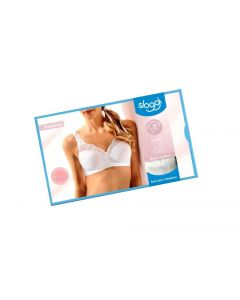 Sloggi Romance sensitive slip-in BH micro cotton hvid str 75B