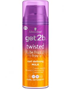 Schwarzkopf got2b twisted be frizz free curl defining milk 150ml