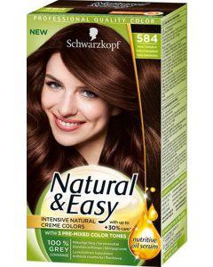 Schwarzkopf natural &  easy creme colors 584 mokka chokoladebrun