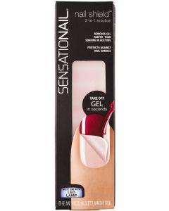 Sensationail nail shield 2-in-1 solution 88 gel nail shields nail buffer manicure stick