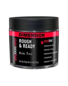 Sexy hair dimension rough & ready 4 shine 7 hold 125g