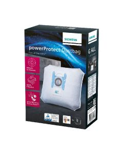 Siemens powerprotect dustbag for all siemens 4 stk
