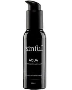 Sinful aqua water-based lubricant 100ml