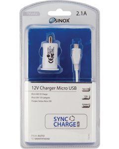 Sinox i-media micro usb 12V charger 2.1A SXi761