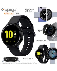 Spigen case for watch 44mm matte black for samsung galaxy watch active2