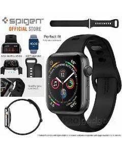 Spigen silicone band 40/38mm compatible with 4/3/2/1 black for apple watch air fit