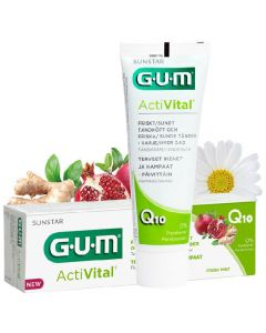 Sunstar gum activital q10 tandpasta med fluor fresh mint 75ml
