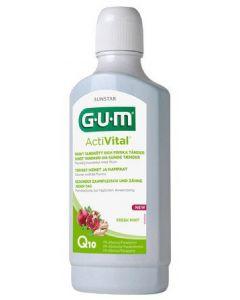 Sunstar gum activital sundt tandkød og sundere tænder q10 fresh mint 500ml