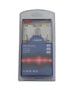 Sinox SXC1102 VGA Monitor kabel 2m hvid
