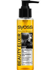 Syoss beauty elixir daily care 03 absolute oil for damaged hair 100ml