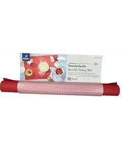 Tchibo silikon reusable baking mat 38x42cm rød