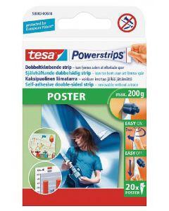 Tesa powerstrips dobbeltklæbende 20 stk.