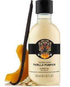 The body shop fall for pumpkin vanilla pumpkin shower gel 250ml