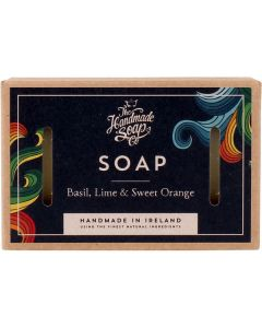The handmade soap soap basil lime & sweet orange 100ml