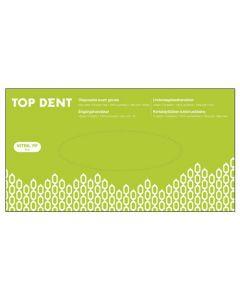 Engangshandsker Top Dent Nitril powder free hvide 100 stk str S
