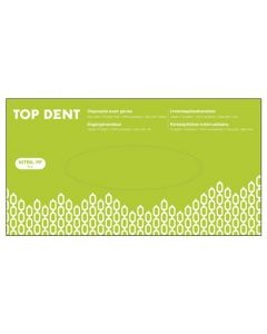 Engangshandsker Top Dent Nitril powder free hvide 100 stk str M