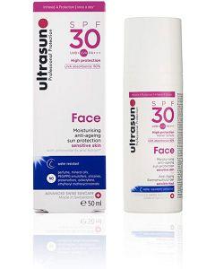 Ultrasun face moisturising anti-ageing sun protection SPF30 high protection 50ml