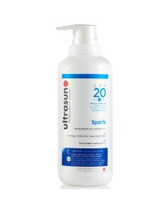 Ultrasun sports transparent sun protection SPF20 medium protection 400ml