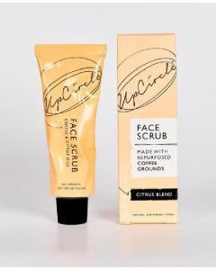 Upcircle face scrub made with repurposed coffee grounds citrus blend 100ml
