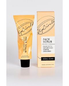 Upcircle face scrub made with repurposed coffee grounds herbal blend 100ml